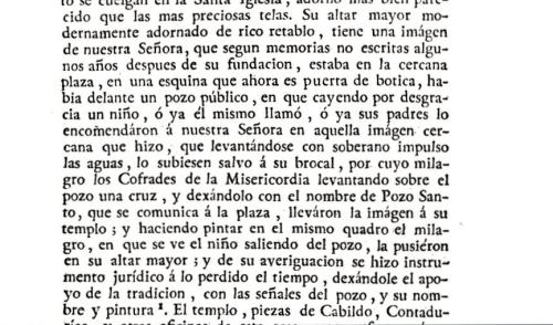 La leyenda sobre el origen del nombre de plaza del Pozo Santo en los Anales de Ortiz de Zúñiga