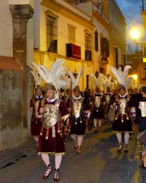 Los Armaos de la Macarena en la tarde noche del Jueves Santo de 2013